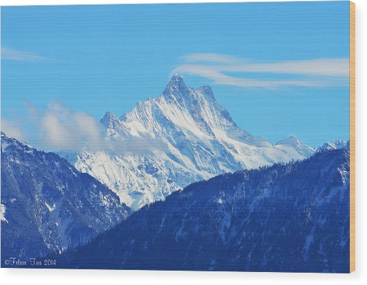 Fairy Tale In Alps Wood Print
