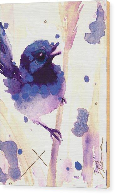 Fairy-wren Wood Print