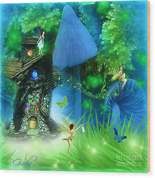 Fairyland - Fairytale Art By Giada Rossi Wood Print