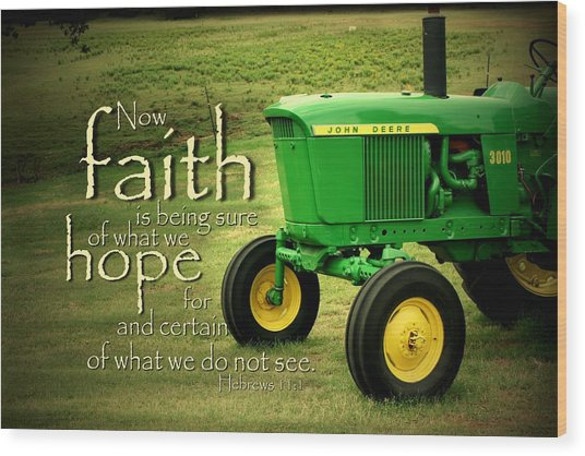 Faith And Hope Wood Print