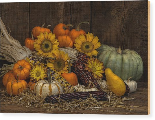 Fall Assortment Wood Print