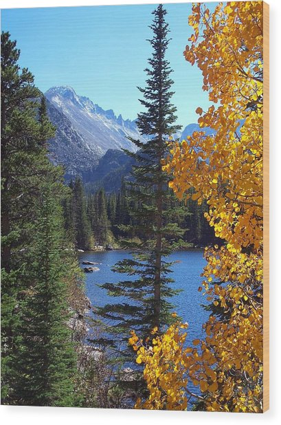Fall At Bear Lake Wood Print