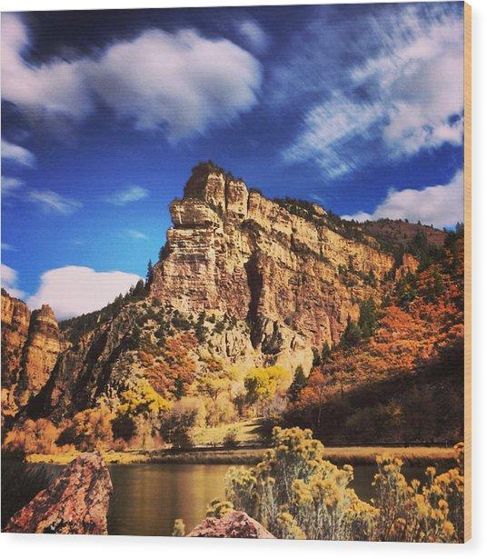 Fall At Hanging Lake Colorado Wood Print by Tory Stoffregen