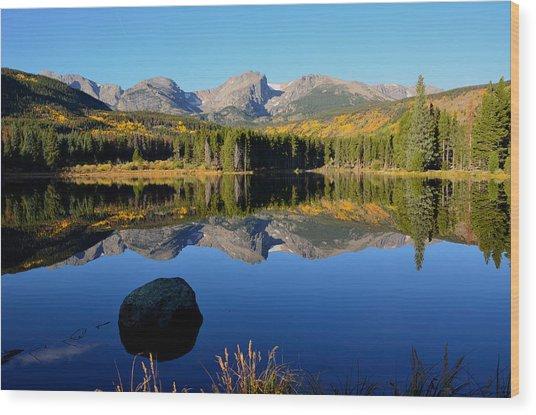 Fall At Sprague Lake Wood Print