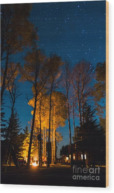 Fall At The Ponderosa Wood Print