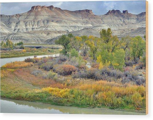 Fall Colors At Scott's Bottom Wood Print