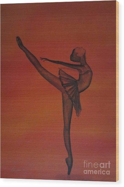 Fall Dancer 1 Wood Print