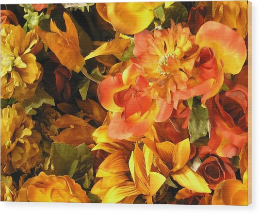 Fall In Bloom Wood Print