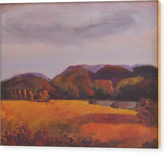 Fall In New England Wood Print