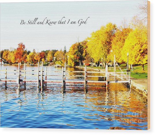 Fall In Skaneateles Ny Wood Print