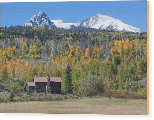 Fall In Summit County Wood Print by Andrew Serff
