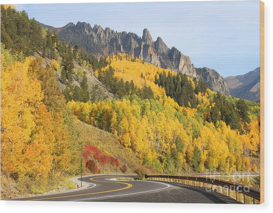 Fall In Telluride Wood Print
