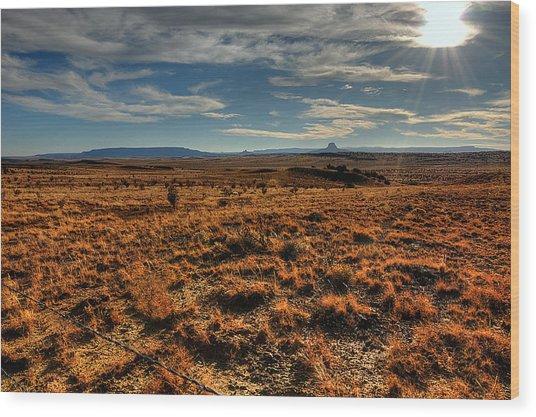 Fall In The High Desert Wood Print
