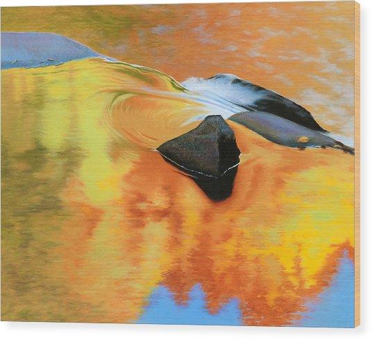 Fall Reflections Wood Print by Bruce Richardson