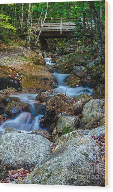 Fall Scene In Nh Wood Print