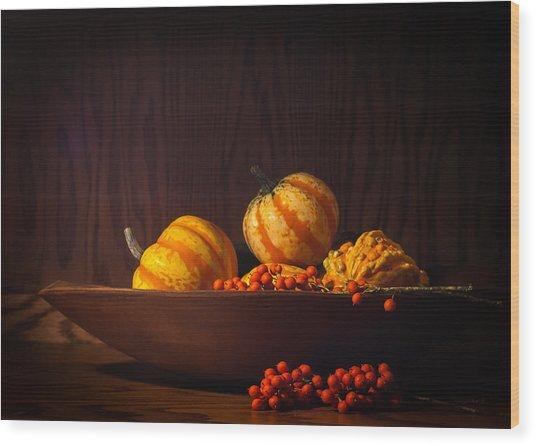 Fall Still Life Wood Print by Wayne Meyer