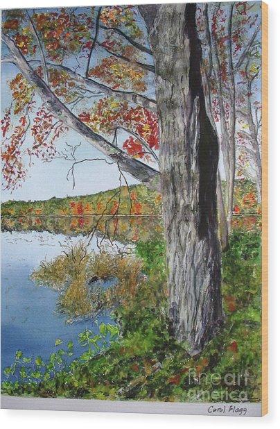 Fall Tree Wood Print