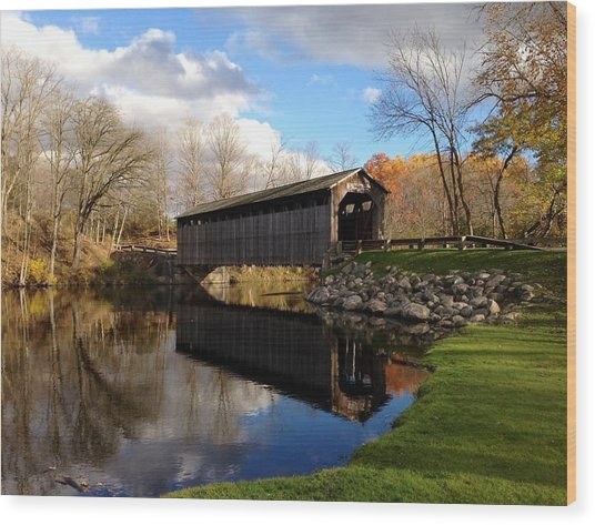 Fallasburg Bridge Wood Print