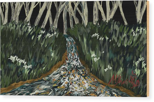 Falling Wood Print by Amanda Johnson
