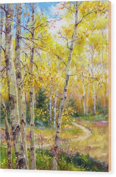 Falling Gracefully Wood Print by Bill Inman