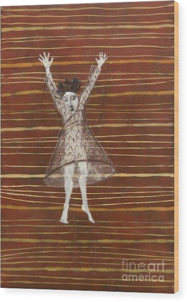 Falling / Jumping Wood Print
