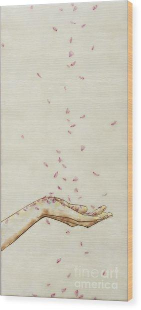 Falling Pink Wood Print