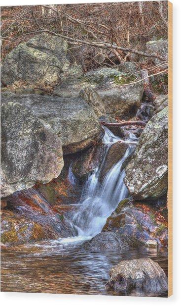 Fallingwater Cascades 22 Wood Print