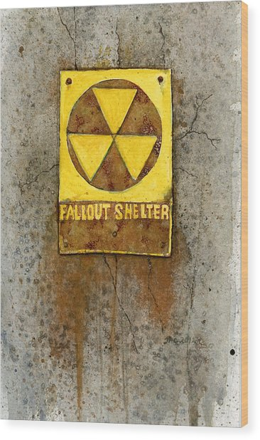 Fallout Shelter #1 Wood Print