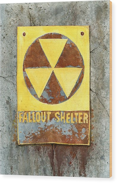 Fallout Shelter #2 Wood Print