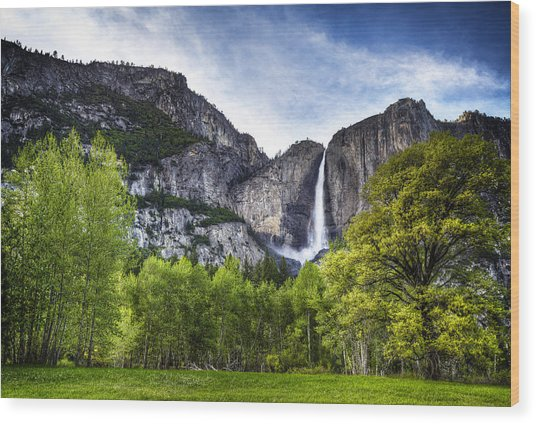 Falls Of The Valley Wood Print by Stuart Deacon