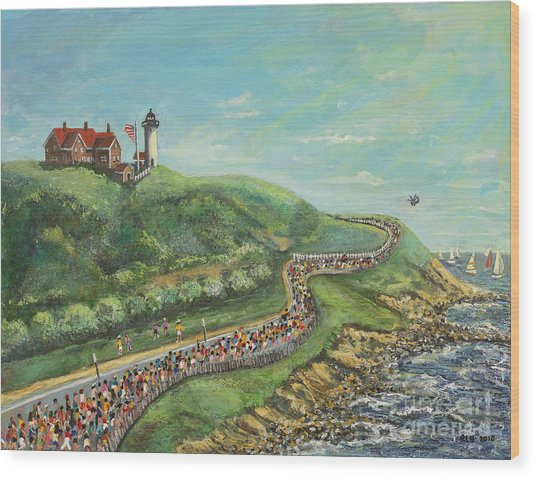 Falmouth Road Race Wood Print