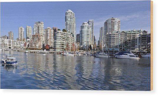 False Creek And Vancouver Wood Print