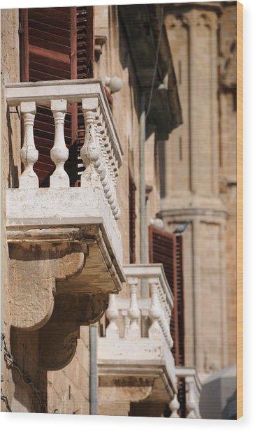 Famagusta Balconies Wood Print