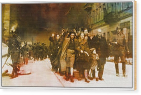 Families Sent  To Death Camps Wood Print
