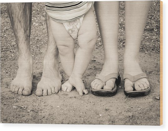 Family Feets Wood Print