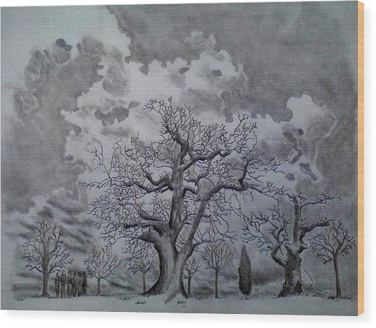 Family Tree Wood Print by Mark Greenhalgh