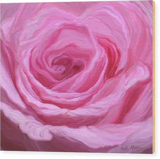 Fanciful Pink Wood Print