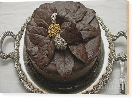 Fancy Chocolate Cake Wood Print