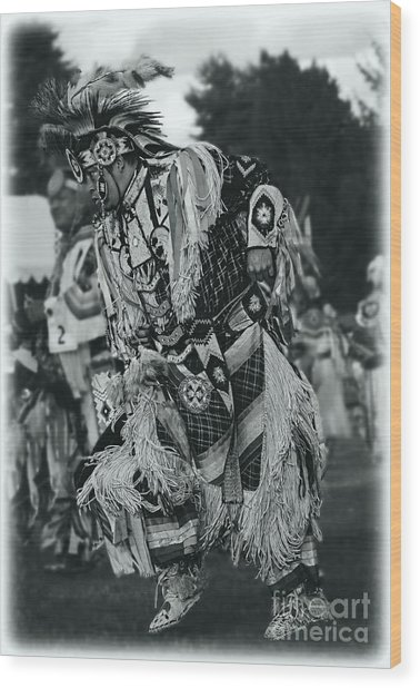 Fancy Dancer In Silver Screen Wood Print by Scarlett Images Photography