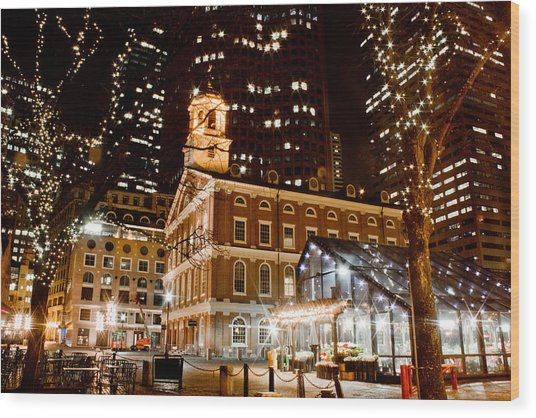 Faneuil Hall Boston Ma  Wood Print