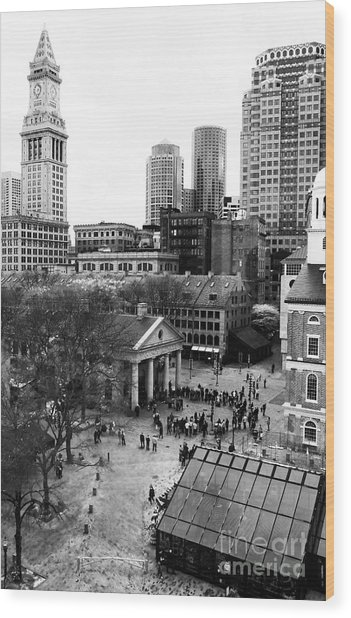 Faneuil Hall Marketplace Wood Print