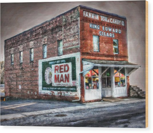 Fannin Tobacco And Candy Company Wood Print