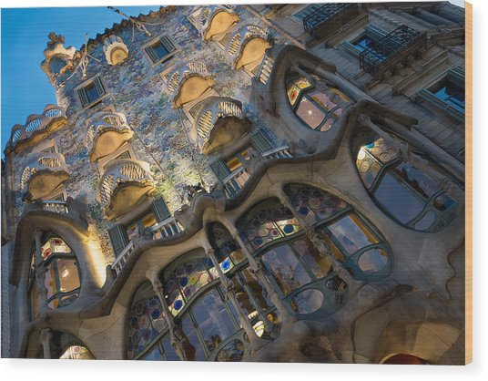 Fantastical Casa Batllo - Antoni Gaudi Barcelona Wood Print