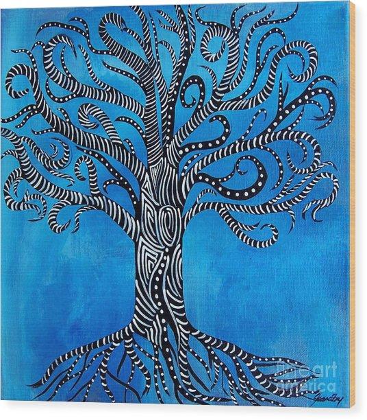 Fantastical Tree Of Life Wood Print
