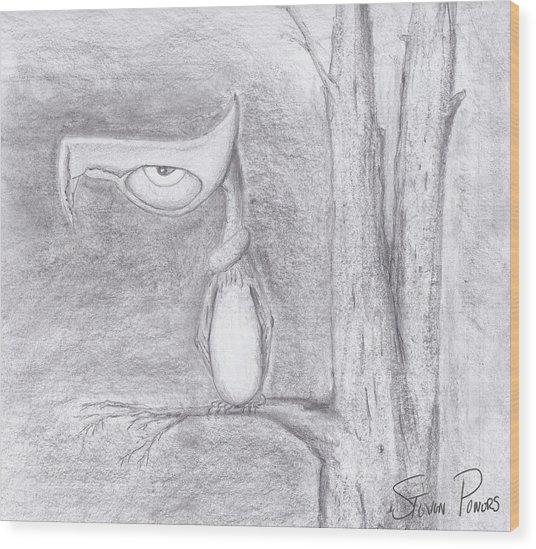 Fantasy Crow Wood Print