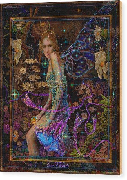 Fantasy Fairy Princess-angel Tarot Card Wood Print