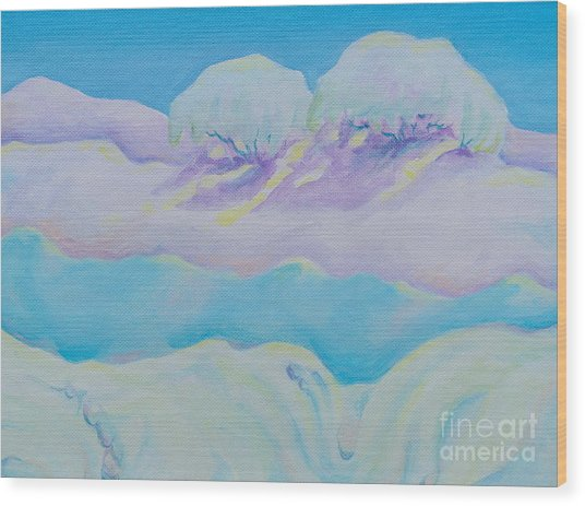 Fantasy Snowscape Wood Print