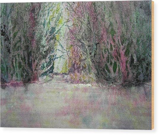 Fantasy Waterfall Wood Print