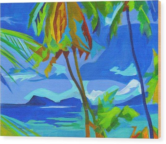 Dream Islands. Maui Wood Print