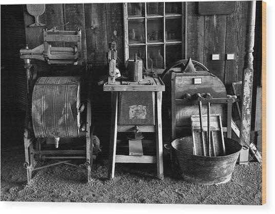 Farm Antiques Wood Print